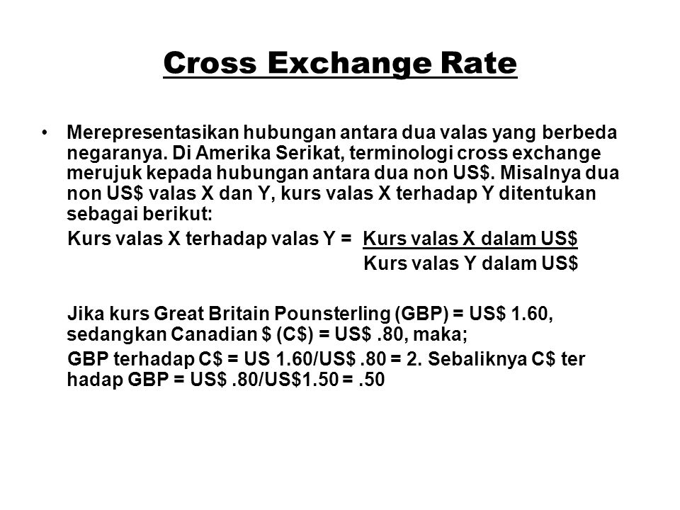 Cross Exchange Rate