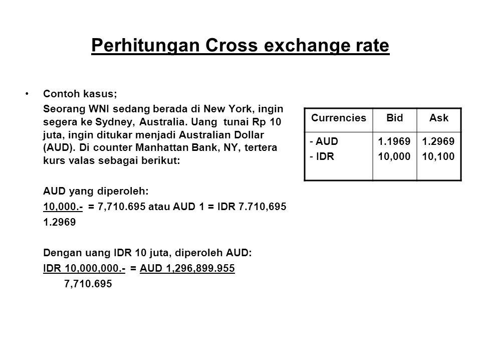 Perhitungan Cross exchange rate
