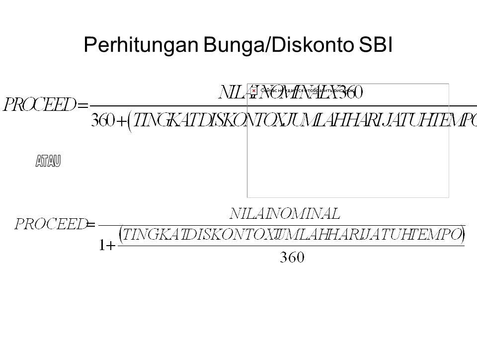 Perhitungan Bunga/Diskonto SBI
