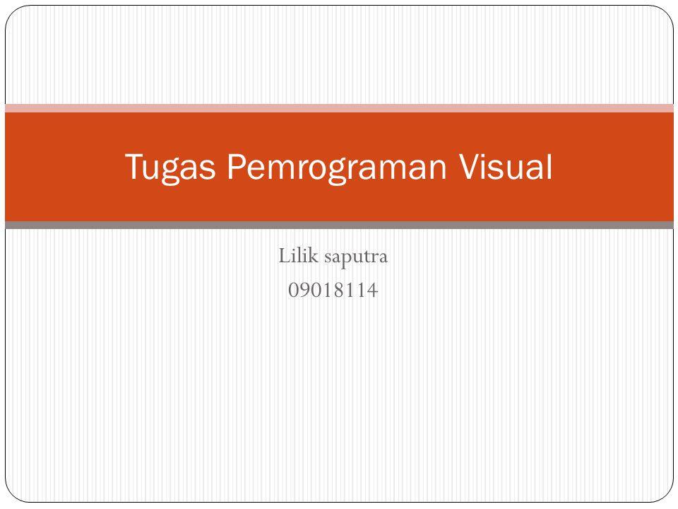 Tugas Pemrograman Visual