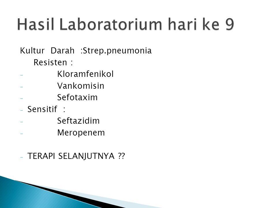 Hasil Laboratorium hari ke 9