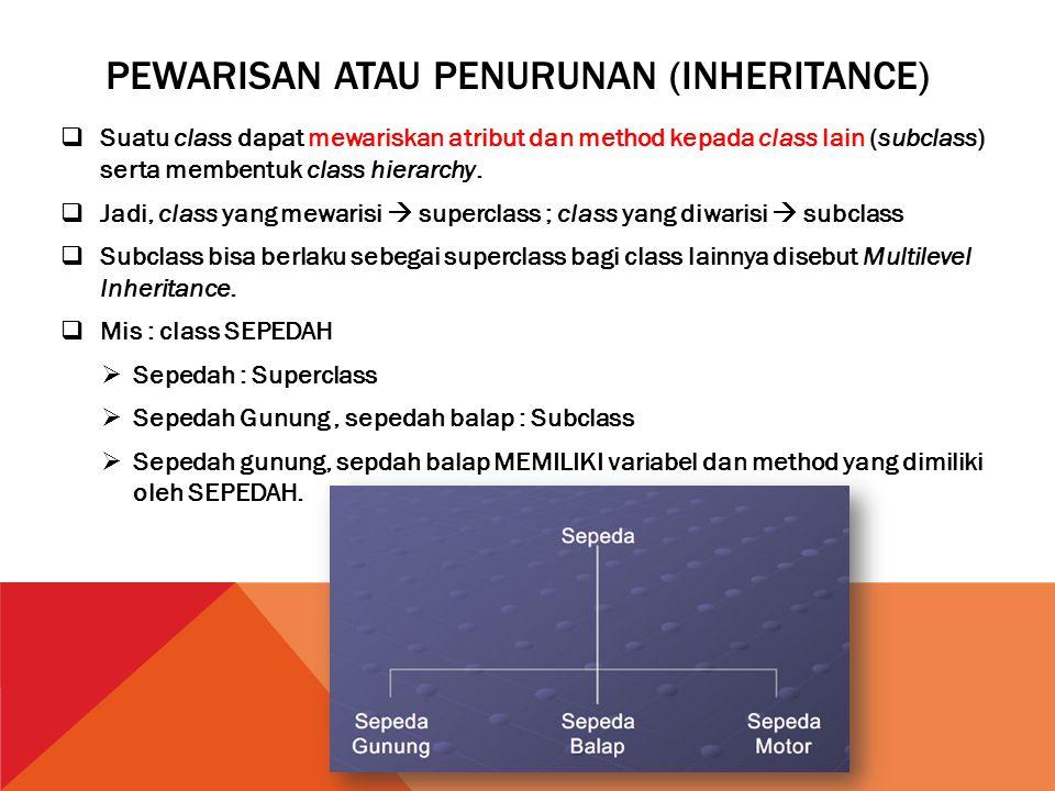Pewarisan atau penurunan (Inheritance)