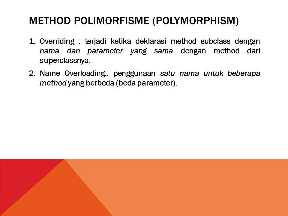 Method Polimorfisme (Polymorphism)