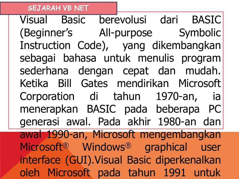 Sejarah VB NET