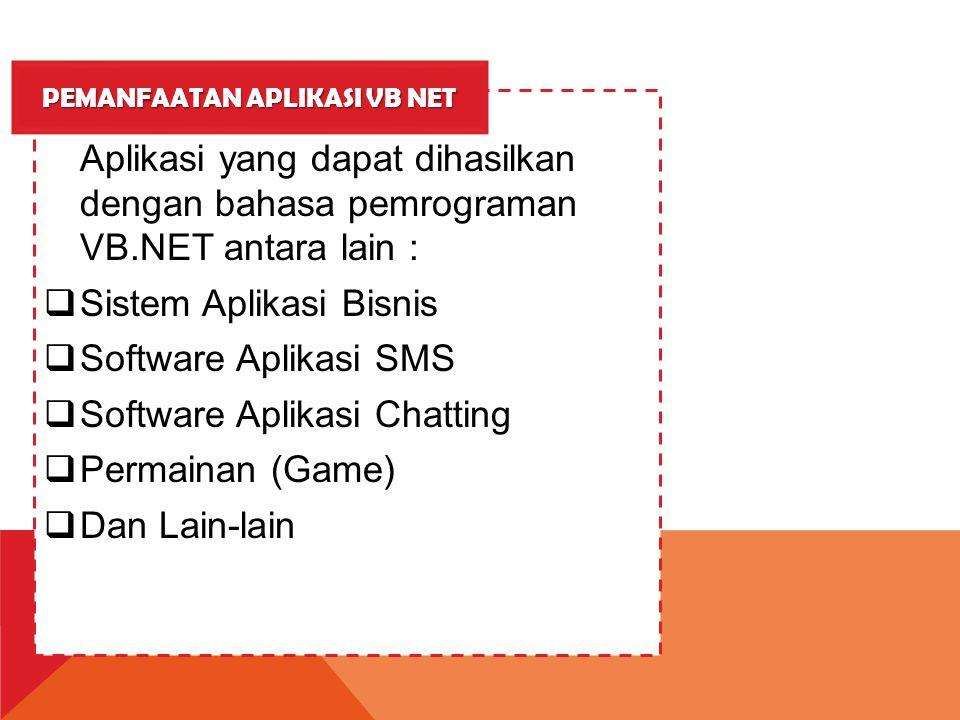 Pemanfaatan Aplikasi vb net