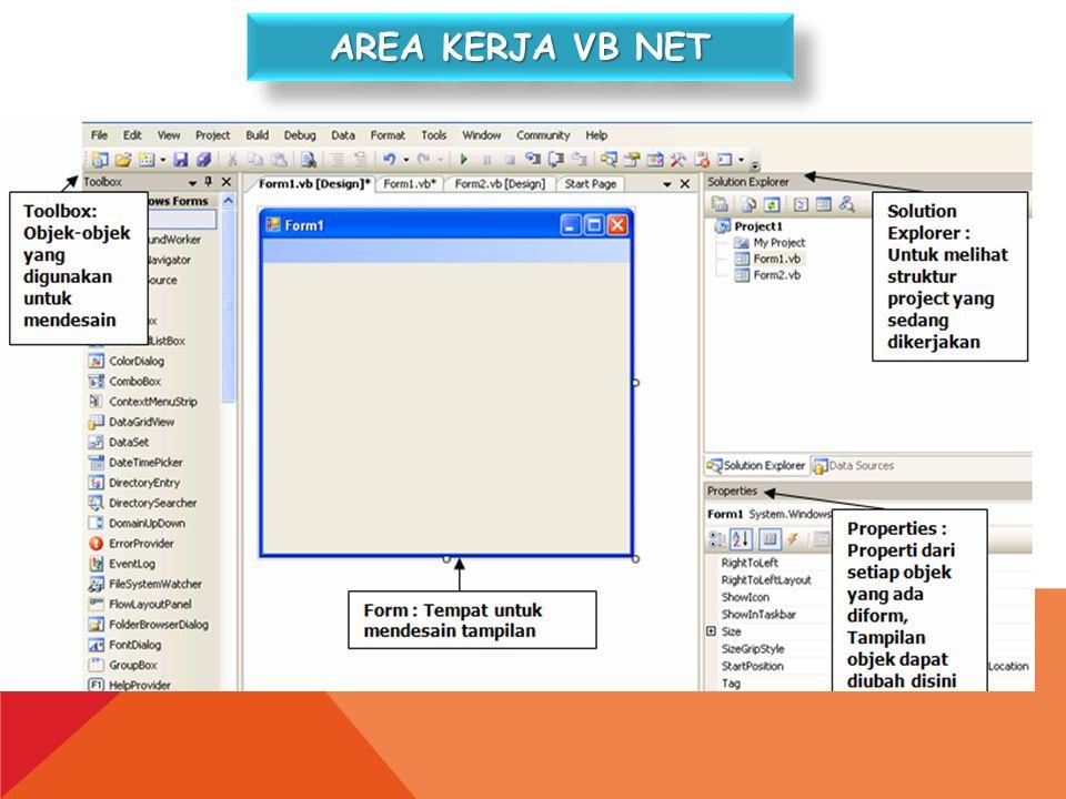 Area kerja vb net
