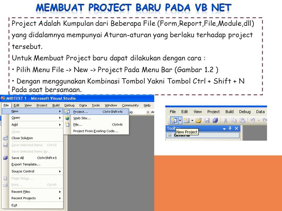Membuat project baru pada vb net