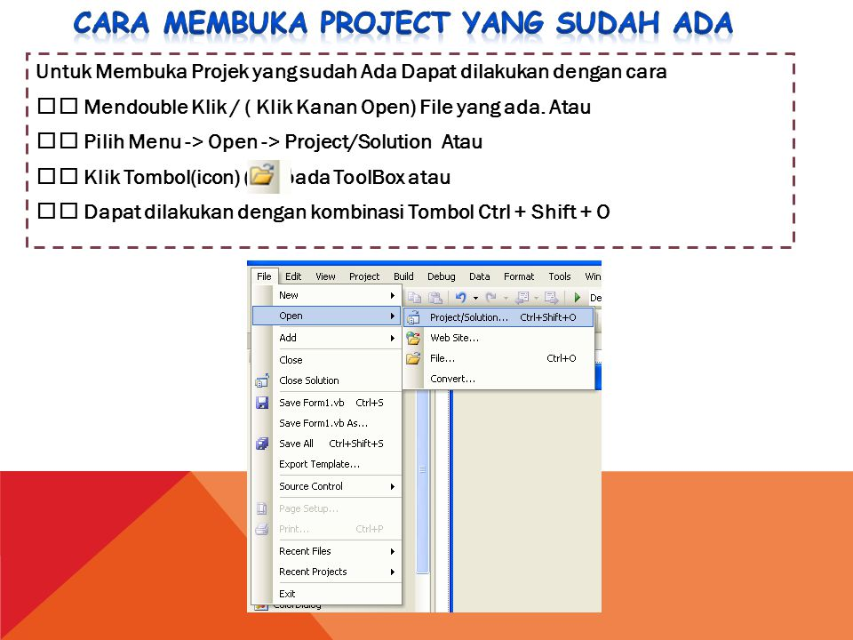 Cara membuka project yang sudah ada