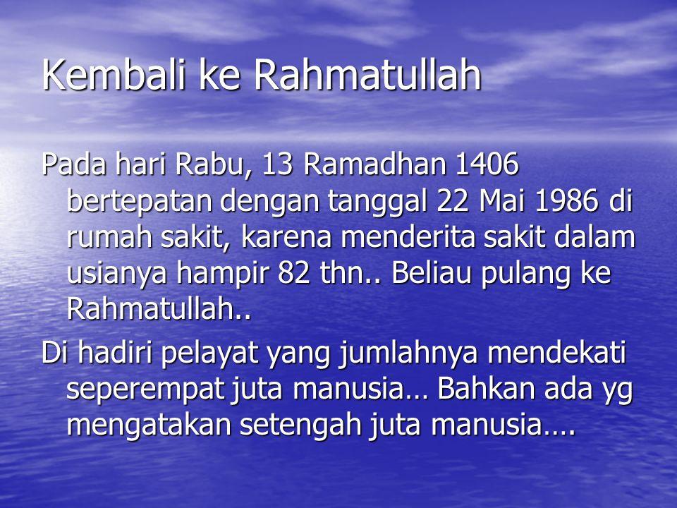Kembali ke Rahmatullah