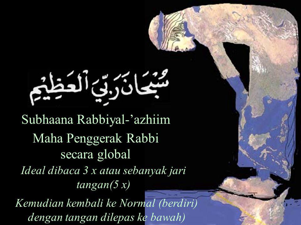 Subhaana Rabbiyal-'azhiim Maha Penggerak Rabbi secara global
