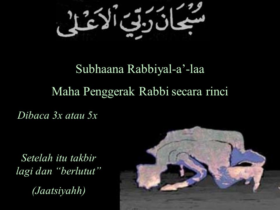 Subhaana Rabbiyal-a'-laa Maha Penggerak Rabbi secara rinci