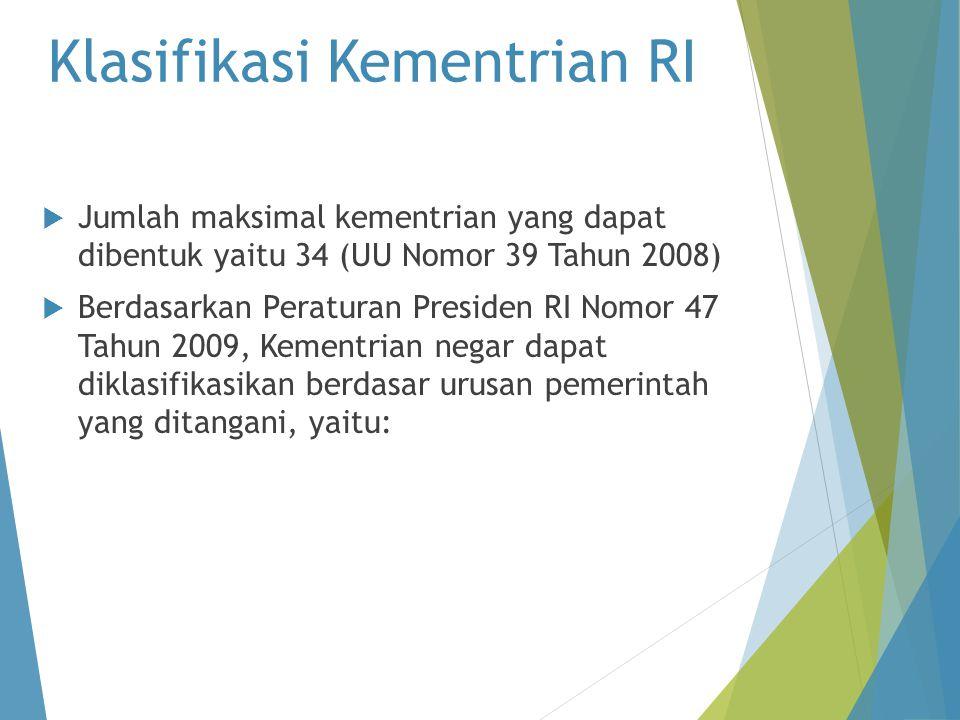Klasifikasi Kementrian RI