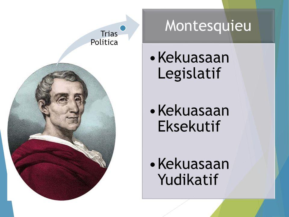 Montesquieu Kekuasaan Legislatif Kekuasaan Eksekutif