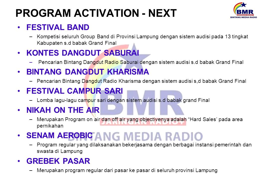 PROGRAM ACTIVATION - NEXT