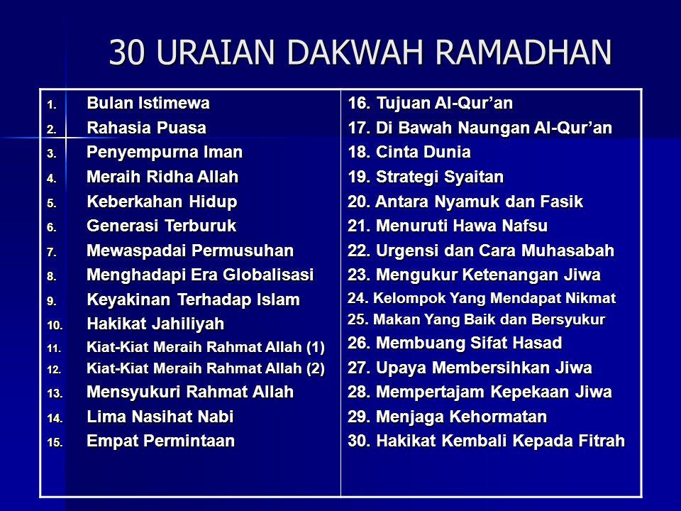 30 URAIAN DAKWAH RAMADHAN