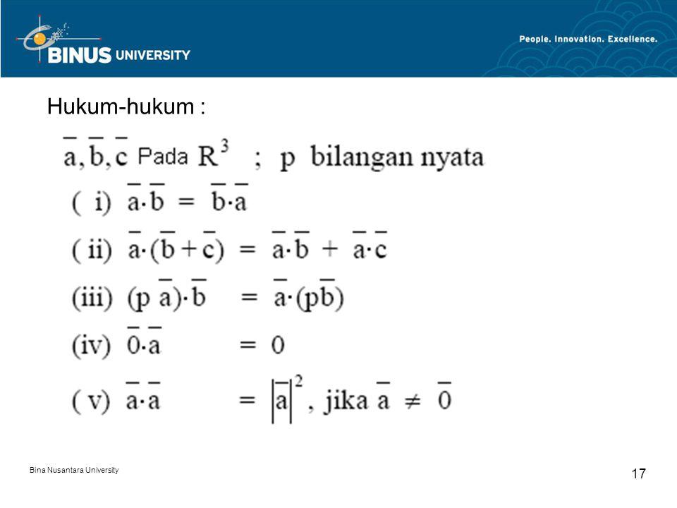 Hukum-hukum : Bina Nusantara University