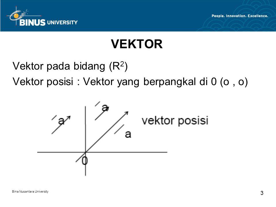 VEKTOR Vektor pada bidang (R2)