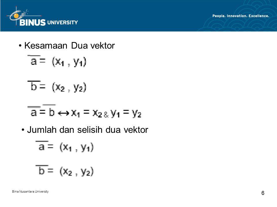 Jumlah dan selisih dua vektor