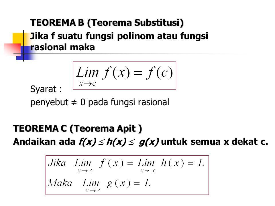 TEOREMA B (Teorema Substitusi)