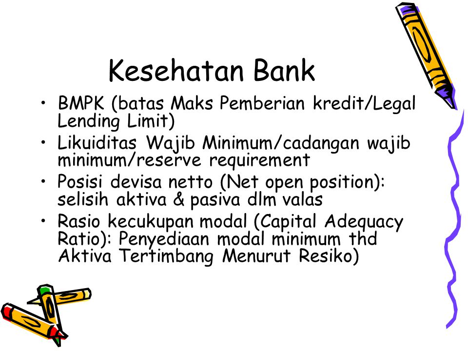Kesehatan Bank BMPK (batas Maks Pemberian kredit/Legal Lending Limit)