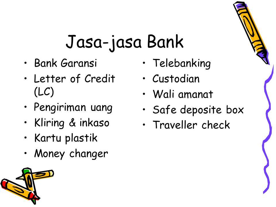 Jasa-jasa Bank Bank Garansi Letter of Credit (LC) Pengiriman uang
