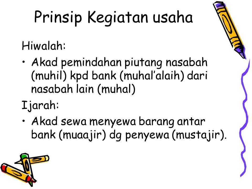 Prinsip Kegiatan usaha