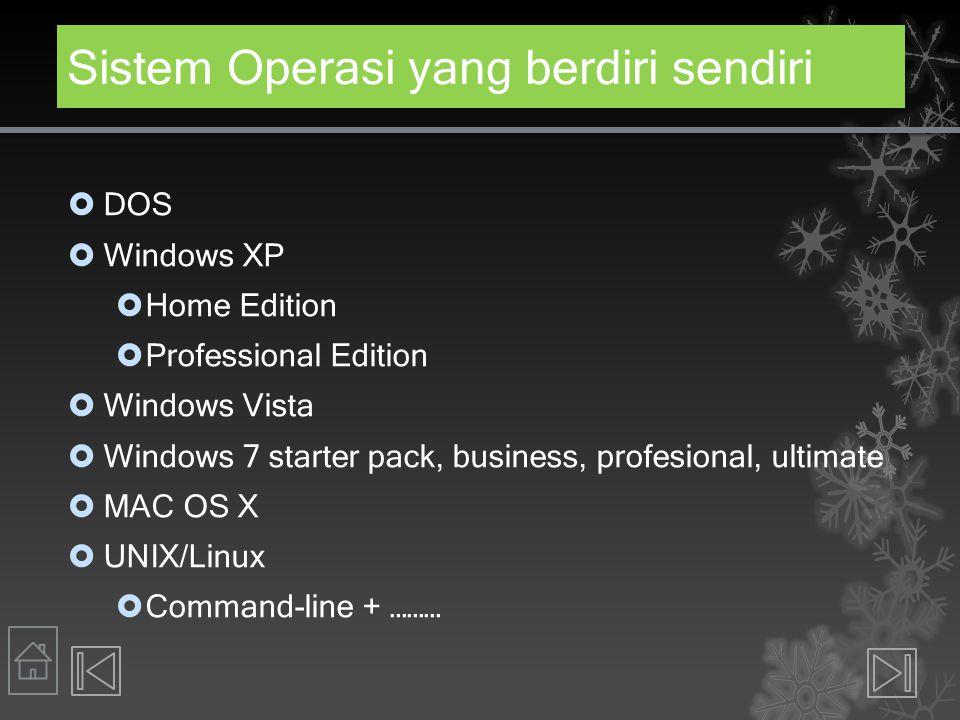 Sistem Operasi yang berdiri sendiri