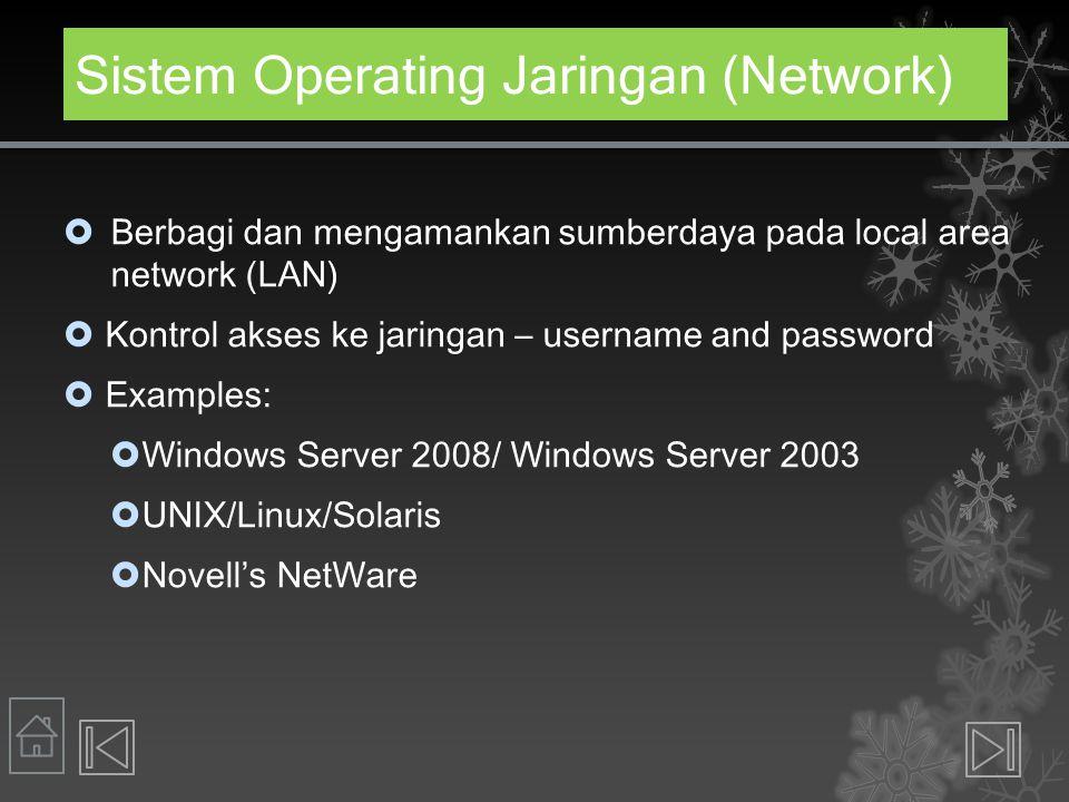 Sistem Operating Jaringan (Network)