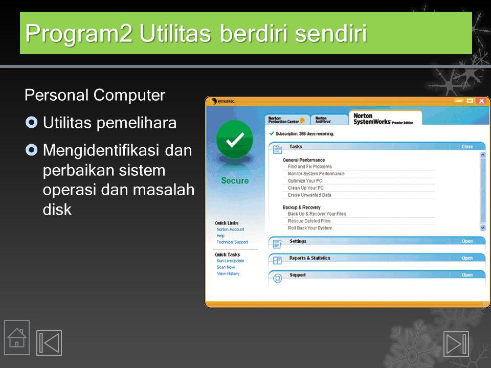 Program2 Utilitas berdiri sendiri