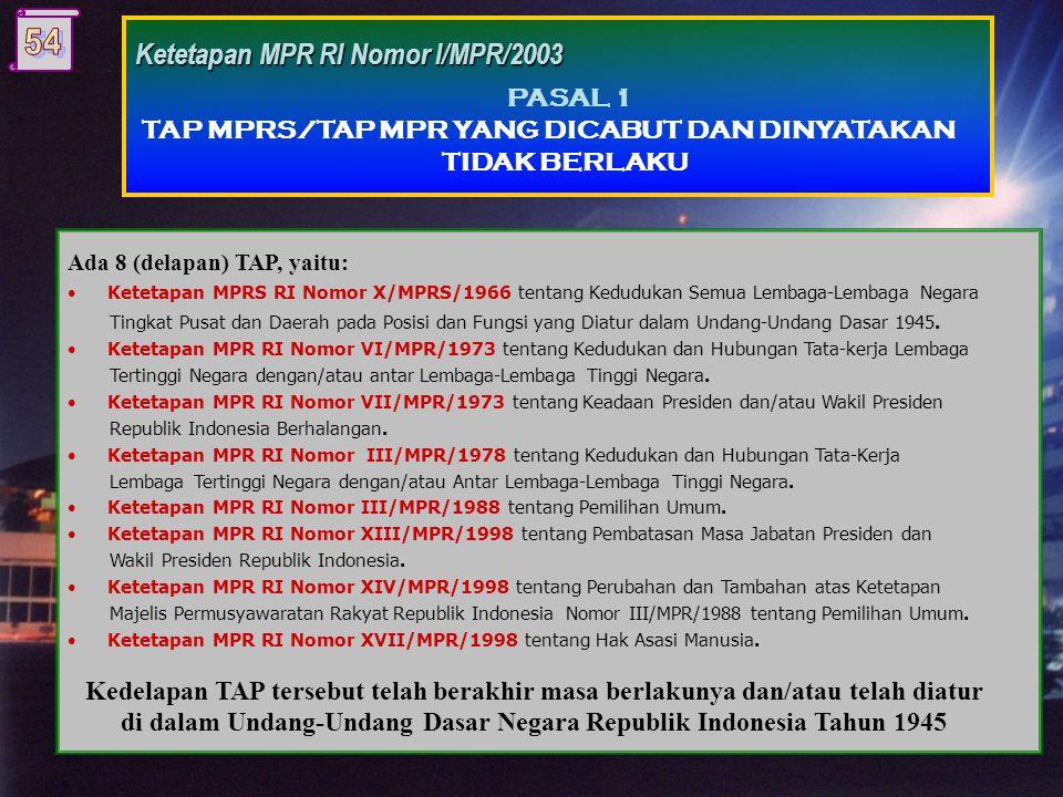 Ketetapan MPR RI Nomor III/MPR/1988 tentang Pemilihan Umum.