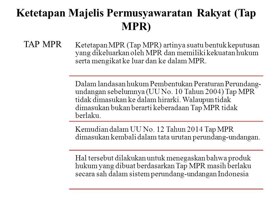 Ketetapan Majelis Permusyawaratan Rakyat (Tap MPR)