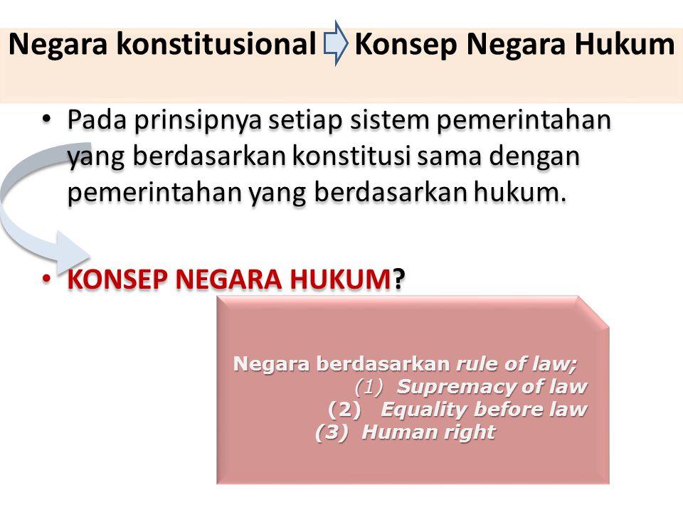 Negara konstitusional Konsep Negara Hukum
