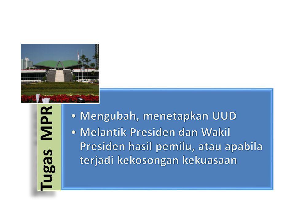 Tugas MPR Mengubah, menetapkan UUD.