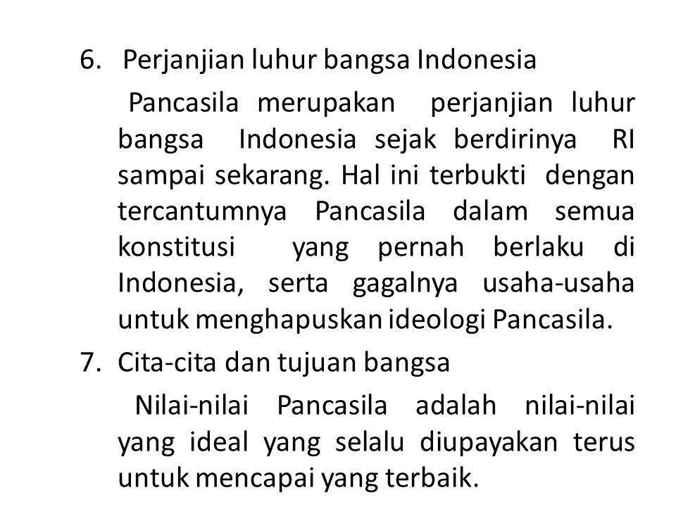 6. Perjanjian luhur bangsa Indonesia
