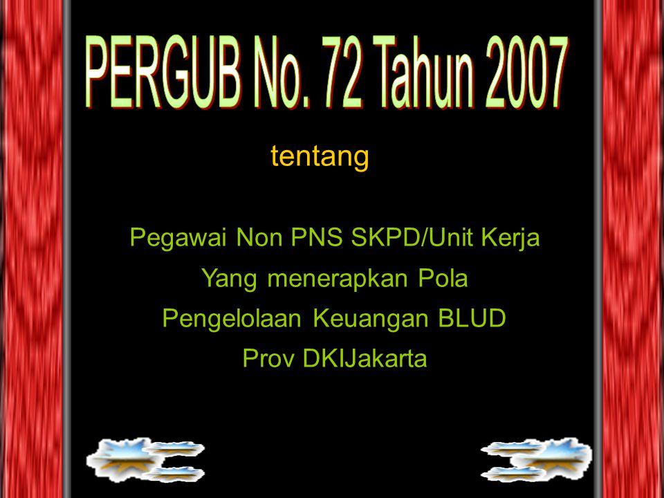 PERGUB No. 72 Tahun 2007 tentang Pegawai Non PNS SKPD/Unit Kerja