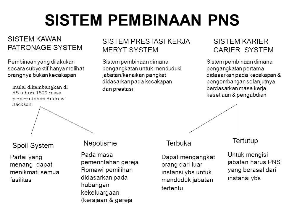 SISTEM PEMBINAAN PNS SISTEM KAWAN PATRONAGE SYSTEM
