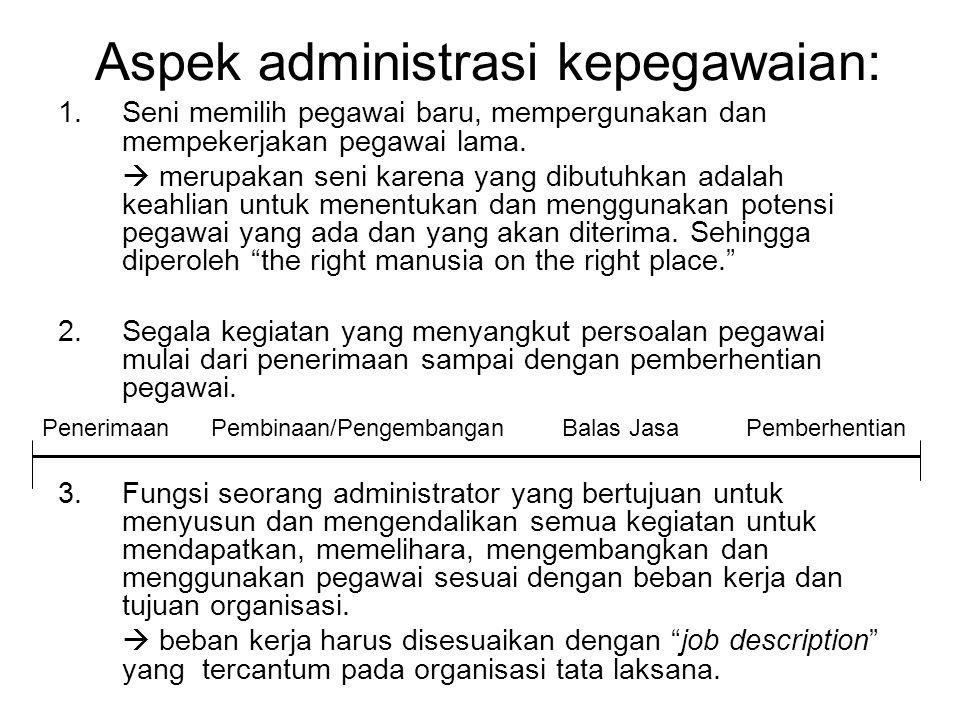 Aspek administrasi kepegawaian: