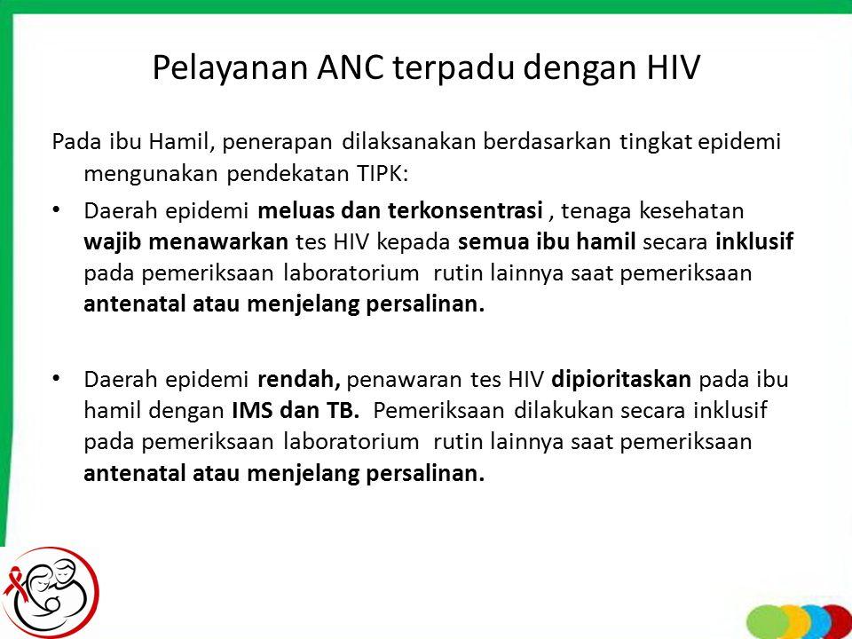 Pelayanan ANC terpadu dengan HIV