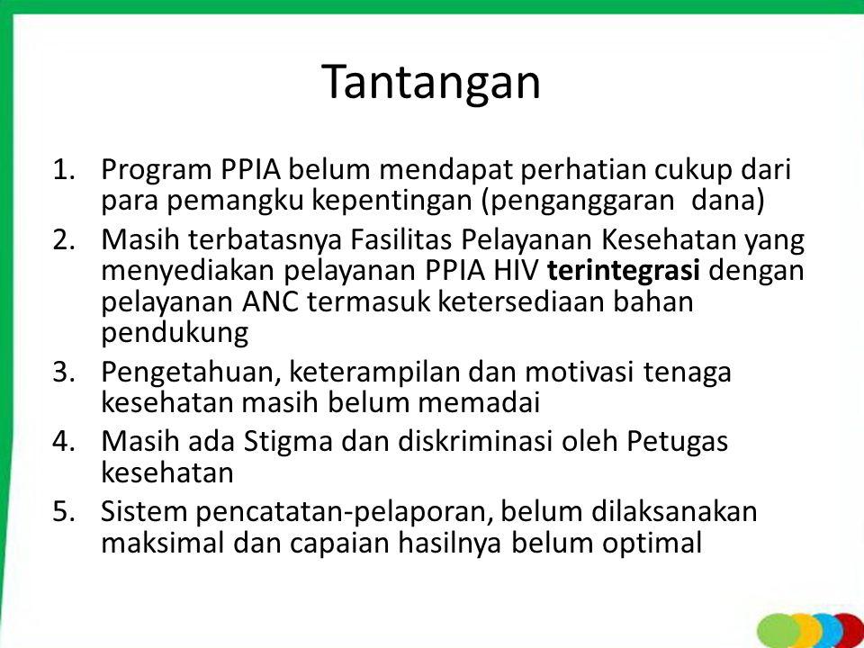Tantangan Program PPIA belum mendapat perhatian cukup dari para pemangku kepentingan (penganggaran dana)