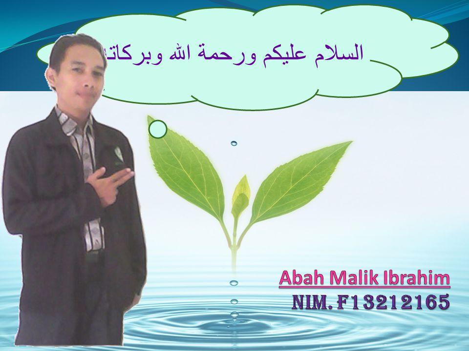 Abah Malik Ibrahim NIM. F13212165