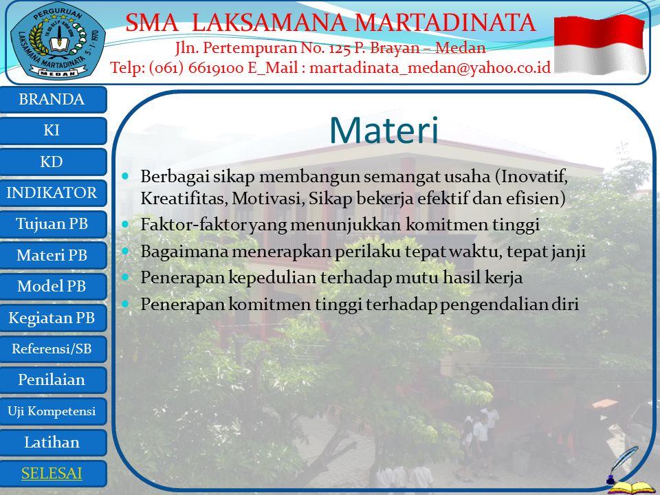 Materi Berbagai sikap membangun semangat usaha (Inovatif, Kreatifitas, Motivasi, Sikap bekerja efektif dan efisien)