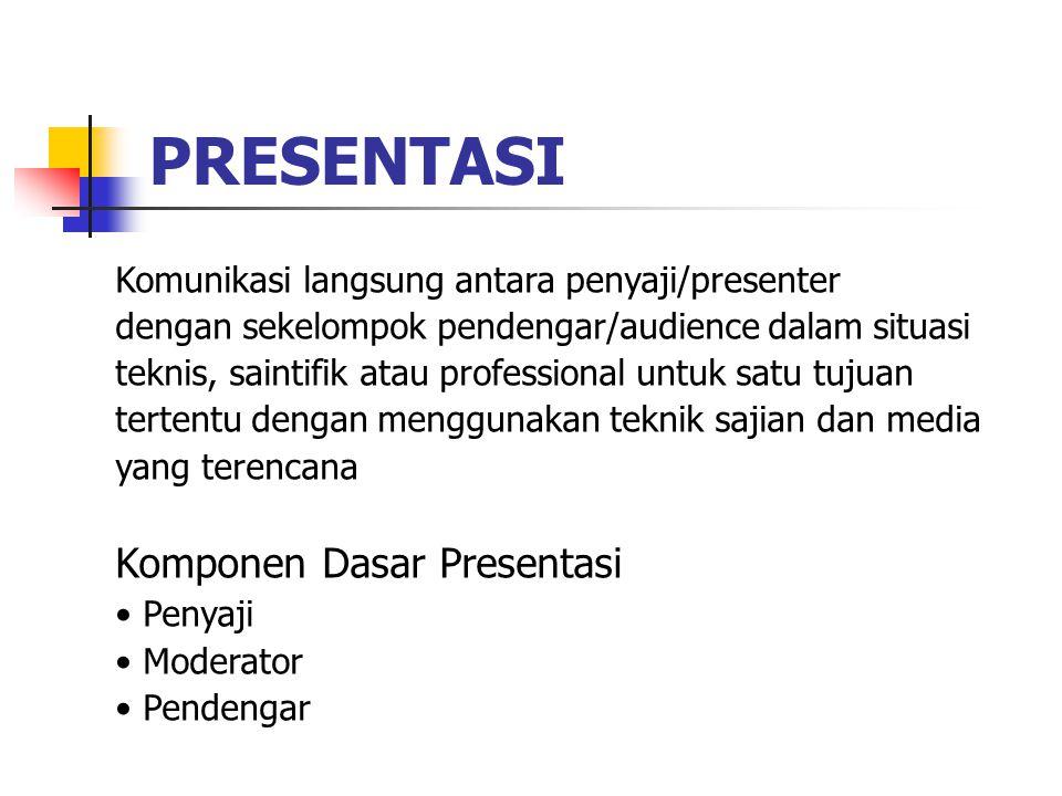 PRESENTASI Komponen Dasar Presentasi