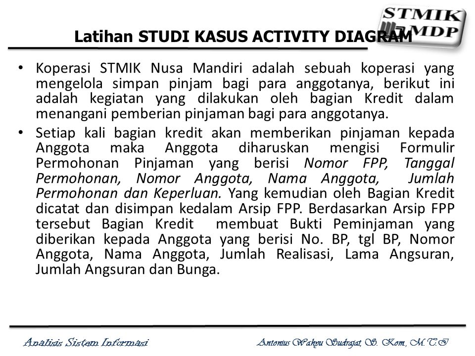Latihan STUDI KASUS ACTIVITY DIAGRAM