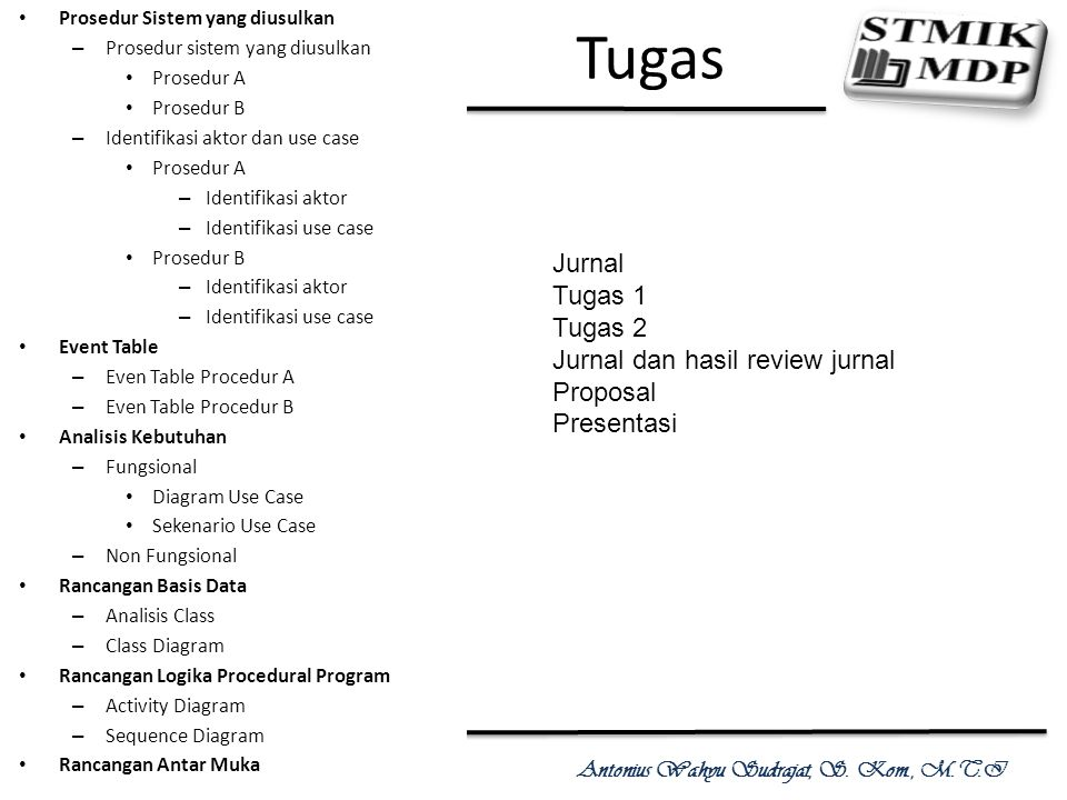 Tugas Jurnal Tugas 1 Tugas 2 Jurnal dan hasil review jurnal Proposal