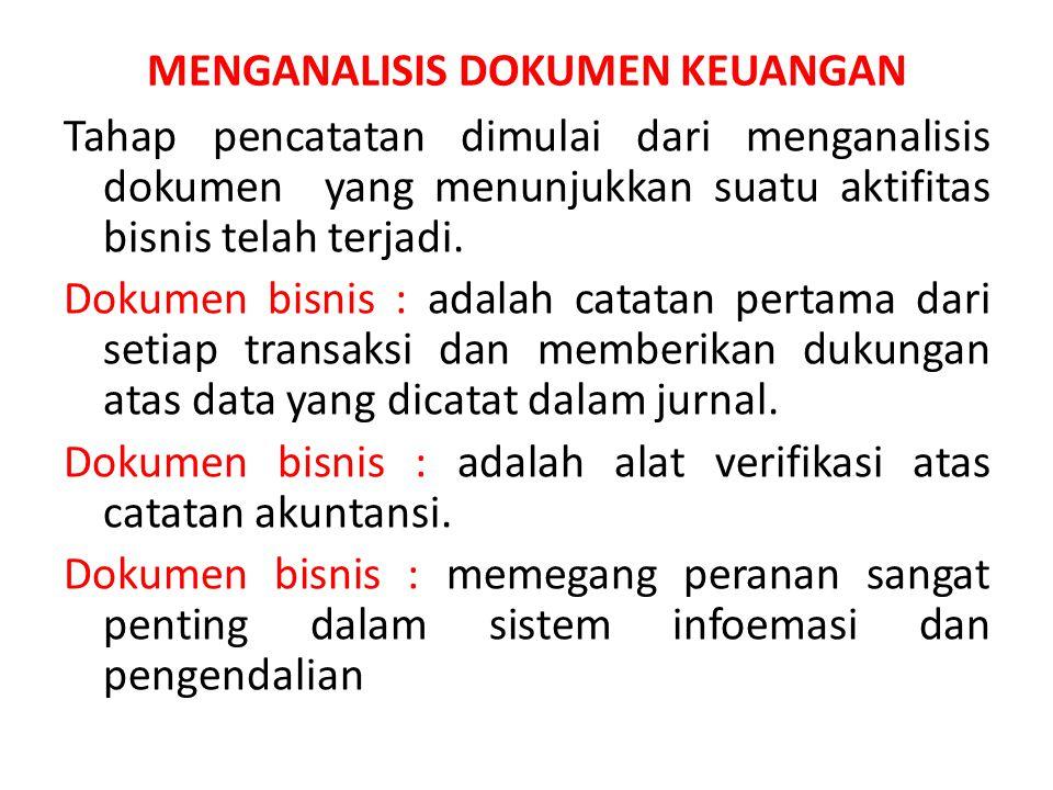 MENGANALISIS DOKUMEN KEUANGAN