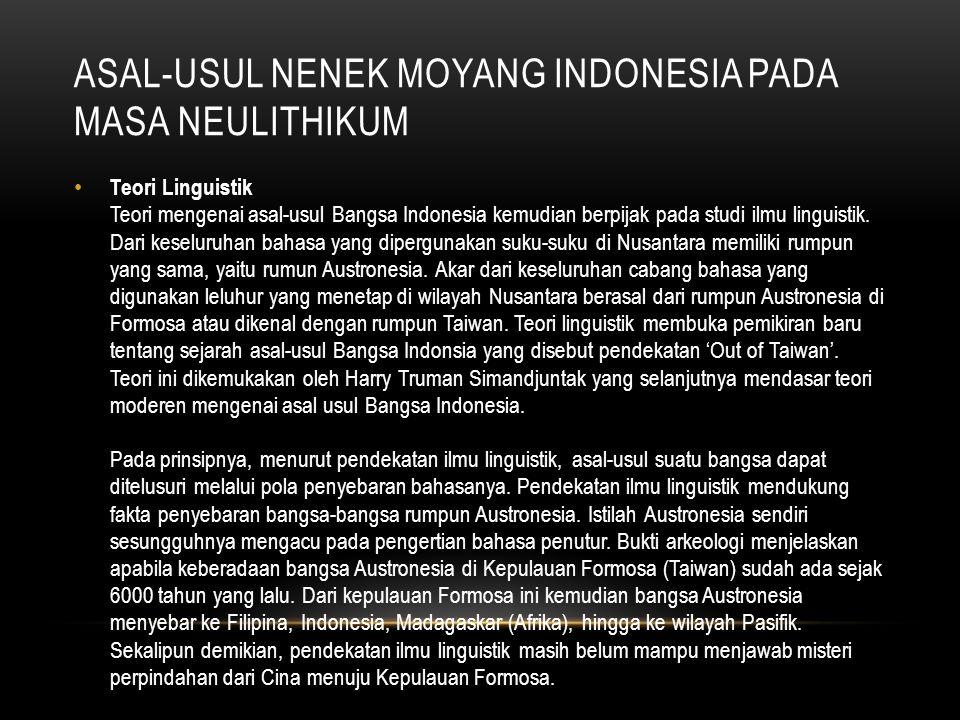 asal-usul nenek moyang indonesia pada masa neulithikum