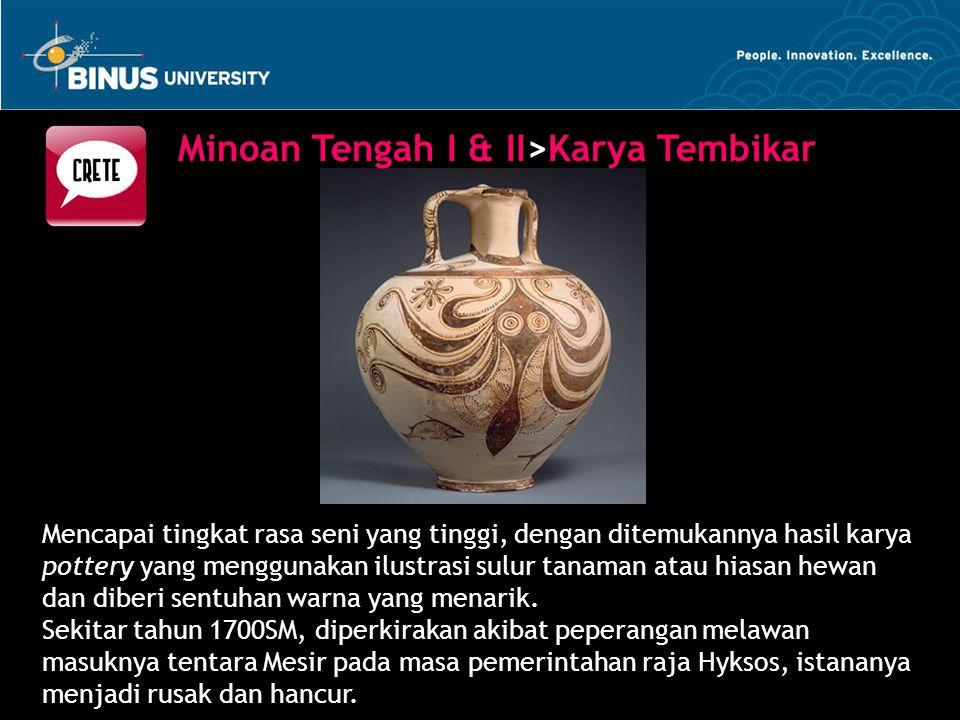 Minoan Tengah I & II>Karya Tembikar