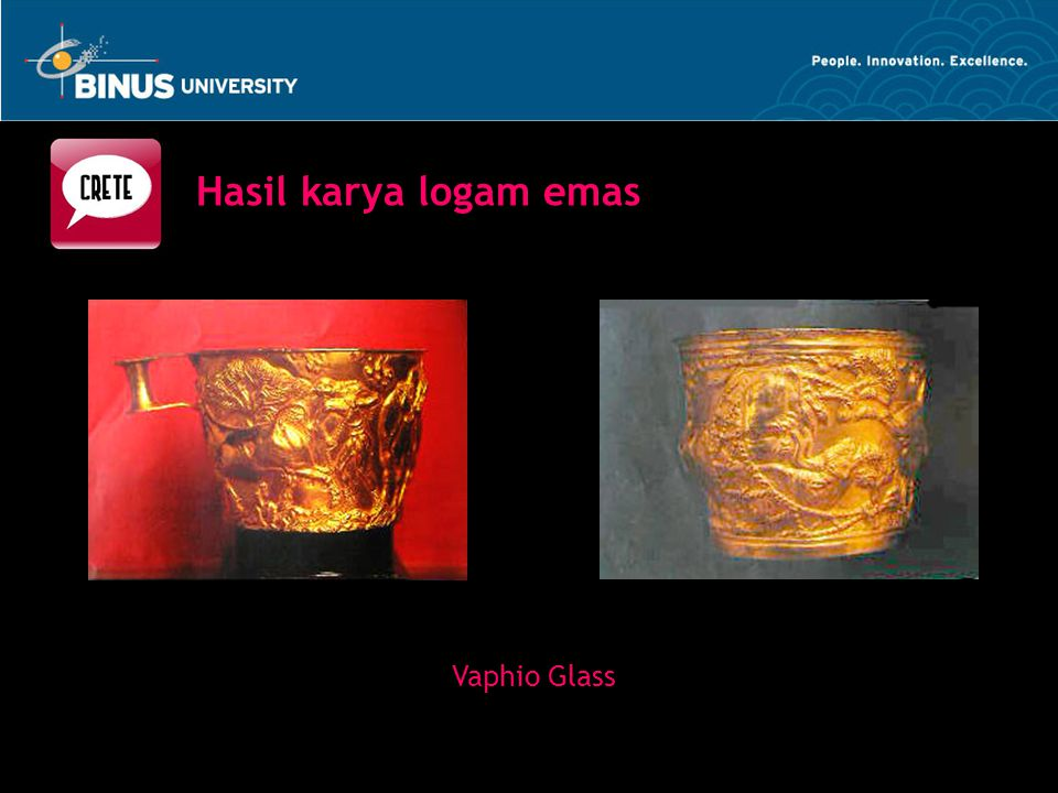 Hasil karya logam emas Vaphio Glass