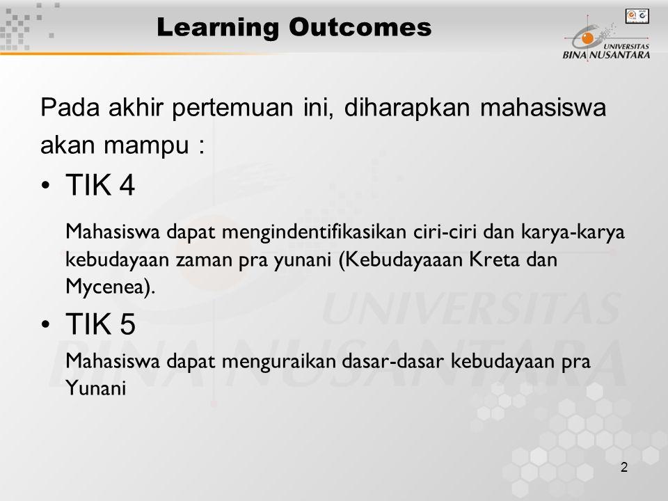 Learning Outcomes Pada akhir pertemuan ini, diharapkan mahasiswa. akan mampu : TIK 4.