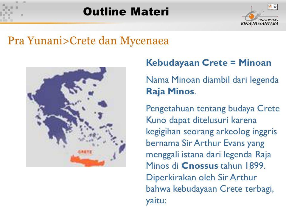 Pra Yunani>Crete dan Mycenaea